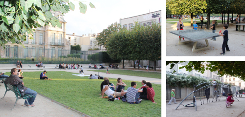 パリの街区公園(マレ地区の小規模公園) - フランス/パリ