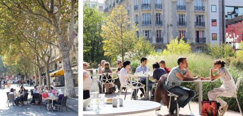 屋外で過ごすパリの人々 - フランス/パリ