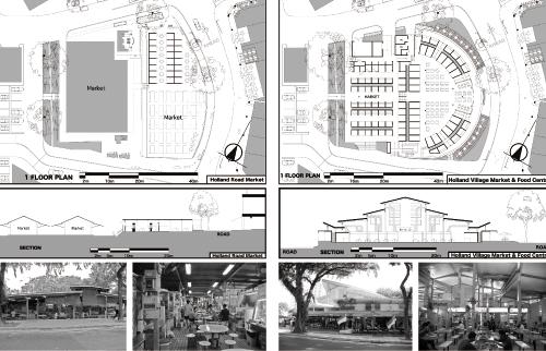 改修前後のホーカーセンターの変化/Holland Village