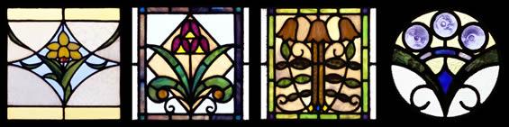 田尻歴史館のステンドグラス