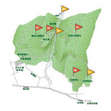 枚岡公園の地図
