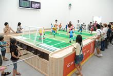 巨大サッカーゲーム